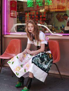 Hollie May Saker by Nicole Heiniger for L'Officel Brazil September 2016