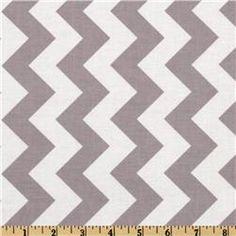 Riley Blake Chevron Medium Grey - Discount Designer Fabric - Fabric.com