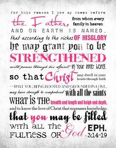 Ephesians 3: 14-19