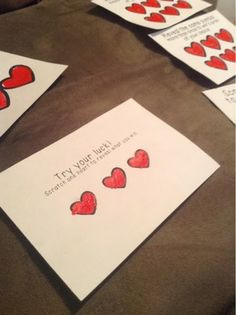 How to make your own Scratchoff Card for valentines day Cute