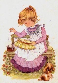 les meli melo de mamietitine - Page 2 Cute Images, Cute Pictures, Sara Kay, Decoupage Vintage, Holly Hobbie, Gif Animé, Sewing Art, Cute Dolls, Cute Illustration
