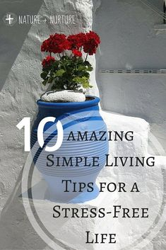Simple living is difficult to achieve in today's world, but it can be done! Let's look at the top ten things you can do to make life simple and stress-free. Simple Living, Natural Living, Natural Life, Natural Health, Vie Simple, The Simple Life, Simple Things, Stress Relief Tips, Learning To Say No