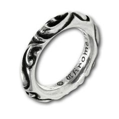 To know more about CHROME HEARTS Scroll Band Ring, visit Sumally, a social network that gathers together all the wanted things in the world! Featuring over 826 other CHROME HEARTS items too! Silver Accessories, Silver Jewelry, Silver Rings, Chrome Hearts Ring, Ring Necklace, Band Rings, Gifts For Him, Jewelery, Rings For Men