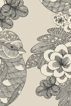 Bird illustration by Millie Marotta. Love the drawing style. Tangle Art, Doodles, Zentangle Patterns, Zentangles, Illustrations And Posters, Art Plastique, Bird Art, Doodle Art, Bunt