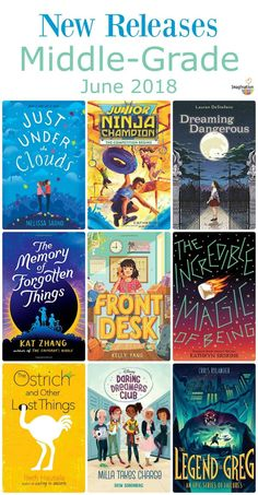 10 New Middle Grade Books, June 2018 new middle-grade books summer 2018 Middle School Books, Middle School Libraries, Elementary Library, Class Library, 5th Grade Reading, Kids Reading, Reading Lists, Book Suggestions, Book Recommendations