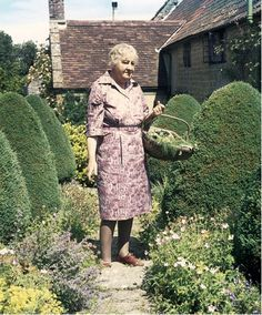 Margery Fish (1893-1966) in her garden at East Lambrook Manor, Somerset. Photograph by Valerie Finnis