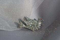 Vintage 19401950 Bridal Crystal Rhinestone by ButterflyEffectInc, $59.99 - SOLD