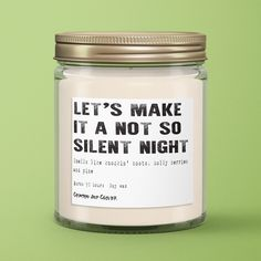Not So Silent Night Candle Soy Candle 9 oz - Crimson and Clover Studio
