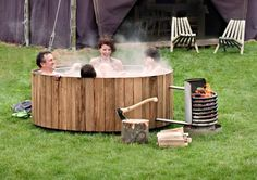 Portable Wooden Hot Tub.