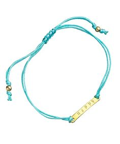 Meredith Hahn Carrie Happy Aquamarine Plate Bracelet