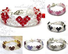 1cd813e02ea2 Crystal Bracelet  Swarovski Bracelet  Glass Bracelet  Heart Swarovski  Crystal Bracelet by CandyBead