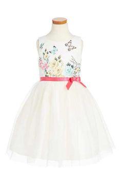 Ruby & Bloom Floral Butterly Fit & Flare Dress (Toddler Girls, Little Girls & Big Girls)