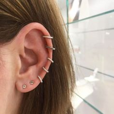 A handy and helpful guide to all the different kinds of ear piercings you can get, with photo examples and healing times.