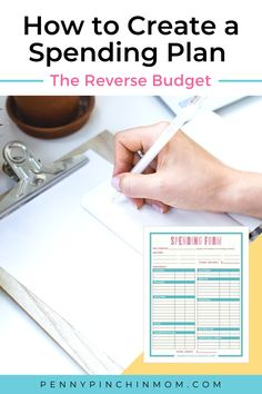 Have you ever used a spending plan? This is a great tool which can really help you see where your money goes every month. It really helps you track your cash flow and honestly, can be very eye-opening. Create A Budget, Frugal Living Tips, Managing Your Money, Finance Tips, Money Management, Money Saving Tips, Personal Finance, Helpful Hints, Free Printables