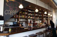Shelving + Bar. Coppa, Boston
