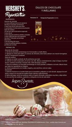 Dulces de chocolate y avellanas