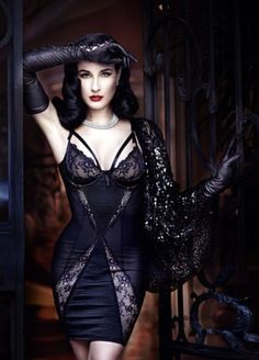 New Fashion Dita Von Teese Colour In Black Von Follies Garter Belt In Size 12