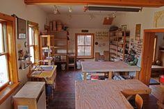 Ayumi Horie's studio in the Hudson Valley, NY