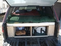 This instructable will show you how to design and build a sleeping platform for the bed of your truck.  The platform will allow you to store your camping supplies underneath your bed and eliminate the need to set up a tent.