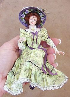 Mary Alice Miniature Doll by Gina Bellous
