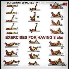 .Exercises for having 8 abs
