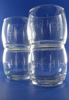 Love these for Christmas.      Set of Etched Christmas Stackable Glasses by RegistryLessTraveled, $30.00