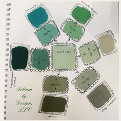 One of the many, many things I love about Chalk Paint® by Annie Sloan is how well thought out each of the beautiful colors is, and how mixable they are to create other colors. Here, I've taken the green Chalk Paint® hues-Amsterdam Green, Florence, Antibes Green, Chateau Grey, Olive, and Versailles and mixed up new, absolutely stunning colors. What's your favorite? (I can't pick one!) #chalkpaint #anniesloan #anniesloanlemlem #anniesloanandoxfam #chalkpaintcharlottenc…