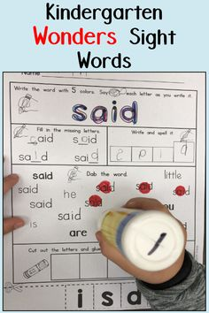 Kindergartners practice the 40 sight words in the Wonders reading series using these engaging worksheets. They are perfect for morning work, literacy stations, homework, intervention, and independent practice. First Grade Activities, Phonics Activities, First Grade Math, Math Games, Wonders Reading Series, Literacy Stations, Literacy Centers, Sight Word Worksheets, Math Graphic Organizers