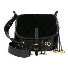 e3e107b05bf6 Quilted Corsaire Crossbody Bag. Prada Velvet & Leather ...
