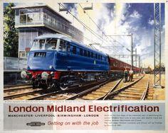 Vintage British Rail Glen Ogle Perthshire Railway Poster A4//A3//A2//A1 Print