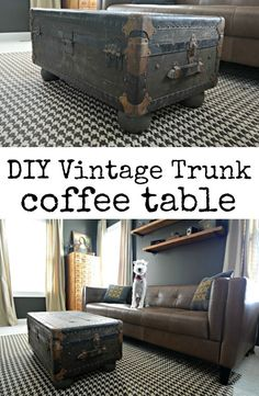 Vintage Trunk Turned Coffee Table U2014 Decor And The Dog