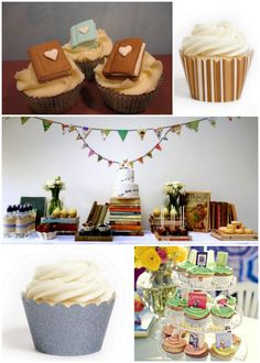 1, 2, 3, Read: Cupcakes For A Book Themed Birthday Party!