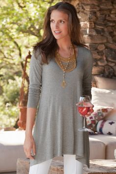 Timely Scoop Top - Tops & Tees, Tops, Clothing | Soft Surroundings