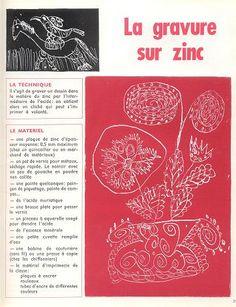 Gravure sur Zinc/ Ecole Freinet
