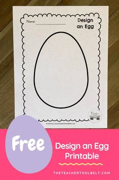 Easter Design an egg FREE to print - Easter Activities for Kids - Education Easter Activities For Kids, Spring Activities, Easter Crafts For Kids, Holiday Activities, Preschool Activities, Holiday Crafts, Easter Art, In Kindergarten, Creations