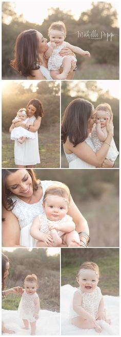 San Diego Family Photographer | Simple, Natural, Organic    Mom & baby 6 month photos, 6 month baby girl Www.michellepoppp...