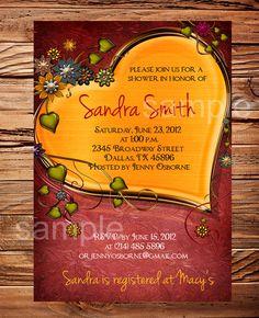 Bridal shower invitation wedding shower by StellarDesignsPro, $21.00
