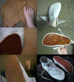 diy medieval footwear | Quick and easy machine sewn medieval turnshoes…