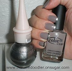 I love a different take on french manicure