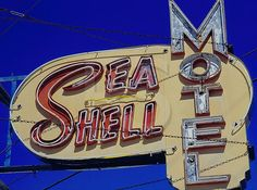 Sea Shell Motel sign, Wildwood NJ.  I've got a great spooky night shot of this.