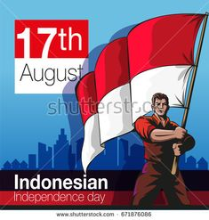 Vector illustration, Indonesian Independence Day