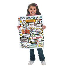 """Color Your Own """"It's All About Faith"""" Posters - OrientalTrading.com"""
