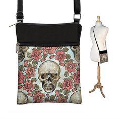 Skull Small Crossbody Purse Shoulder Bag By Janinekingdesigns