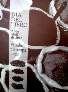 El sabor no ocupa lugar: folleto del día del libro 2013 #libros #folletos #día_dell_libro