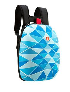 Zipit Men's Hard Shell Backpack Blue Triangles