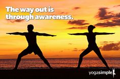 Achieving awareness is what it's really all about. #yoga #yogasimple