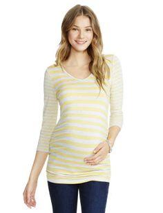 10b7ab6c8b956 Jessica Simpson Elbow Sleeve Scoop Neck Lightweight Maternity T Shirt Jessica  Simpson Maternity, Maternity Tops