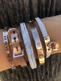 Set fall 2018 bracelets - princess p jewelry Sterling Silver Jewelry, Gold Jewelry, Jewelry Accessories, Fashion Accessories, Jewelry Necklaces, Women Jewelry, Fashion Jewelry, Jewelry Design, Silver Ring