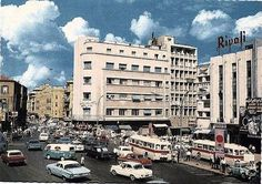 Al Bourj Square - Beirut. Note the Saviem - Chausson buses