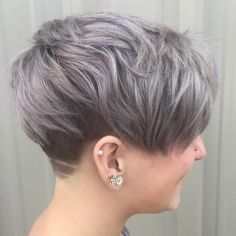 Ash Brown Undercut Pixie